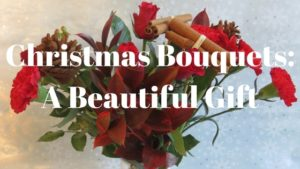 Christmas bouquets: a beautiful gift