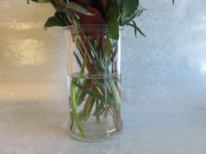 the vase for the Christmas bouquet gift