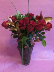 The luxery rose Valentine's flowers