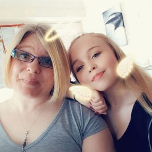 mother and teen daughter on birthday