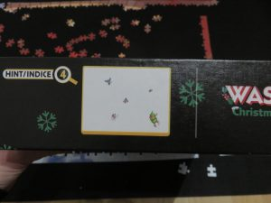 clue on wasgij Christmas puzzle box
