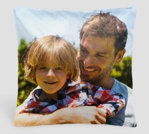 image of a cushion that you can put a photo on for a gift for Mother's Day