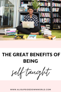 Benefits of being self-taught Pinterest pin title
